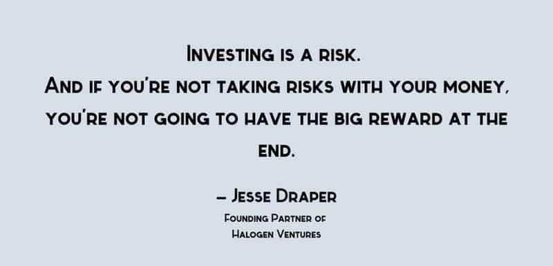 Words from venture capitalist, Jesse Draper