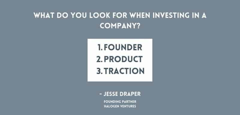 venture capitalist 3 criteria