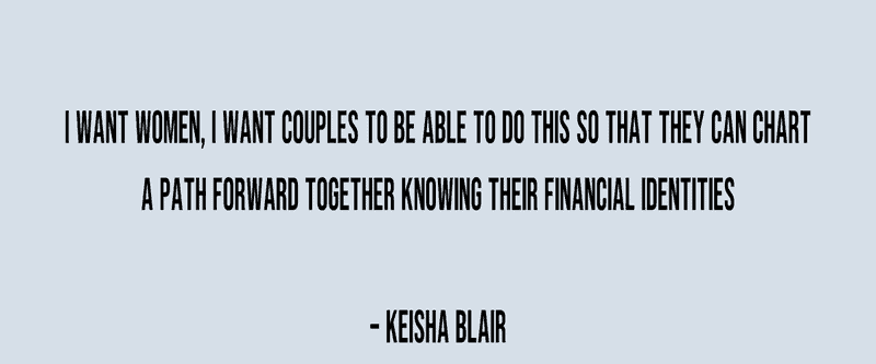 What Keisha Blair advises