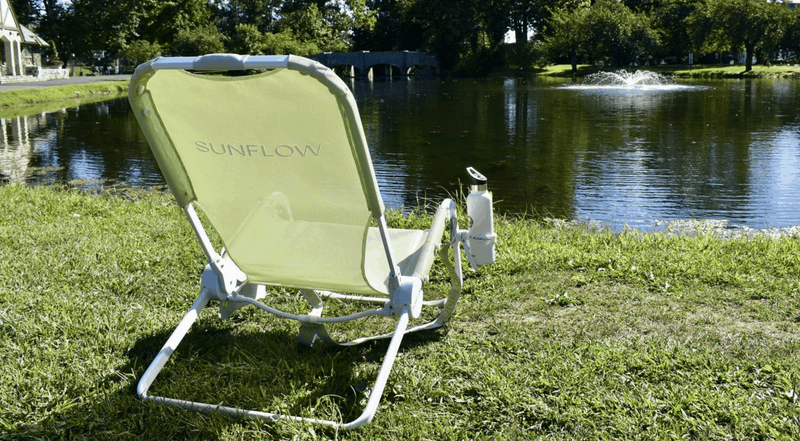 Sunflow Beach Chair on lake front