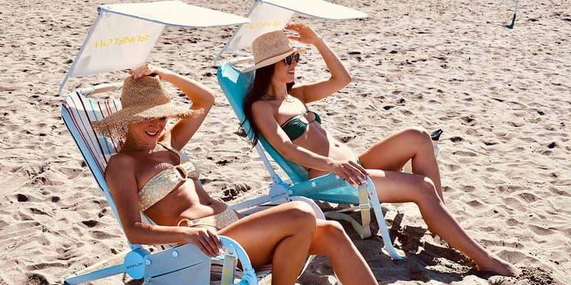 Two women enjoying Sunflow Beach Chairs