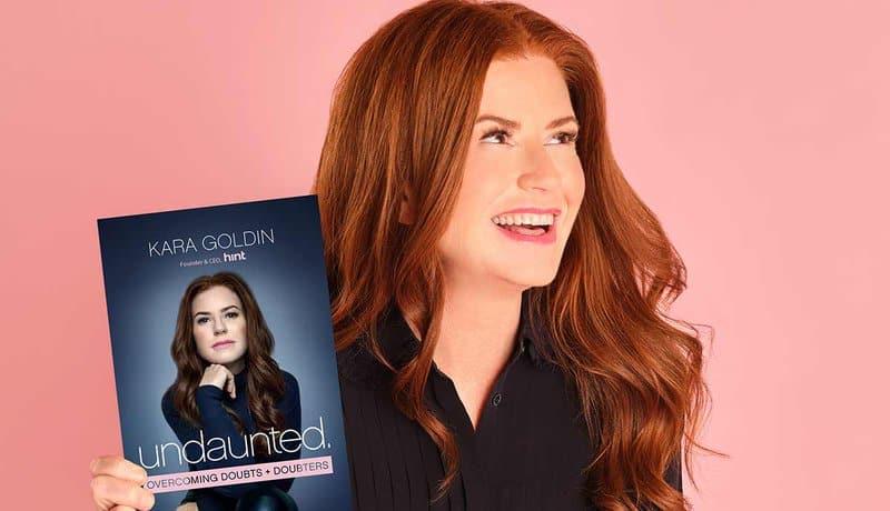 Hint Water CEO Kara Goldin with her book, Undaunted