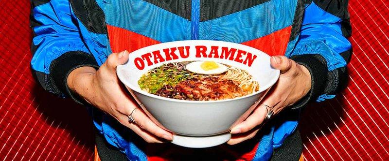 A bowl of Otaku Ramen with egg