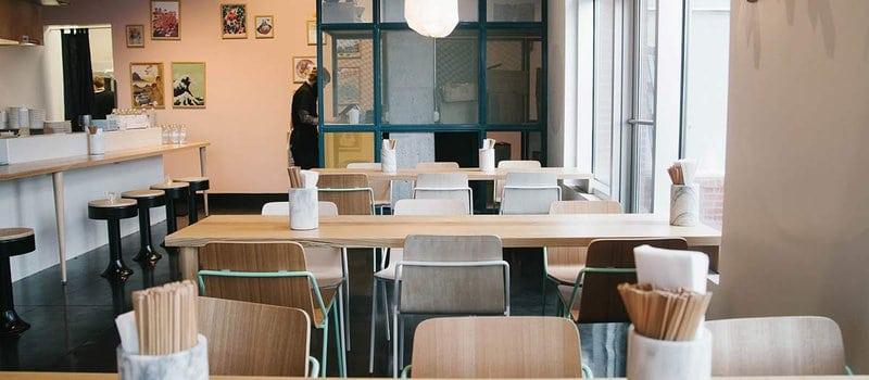 Restaurant interior of Otaku Ramen