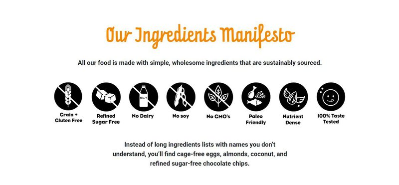 Ingredients Manifesto from consumer packaged goods entrepreneur