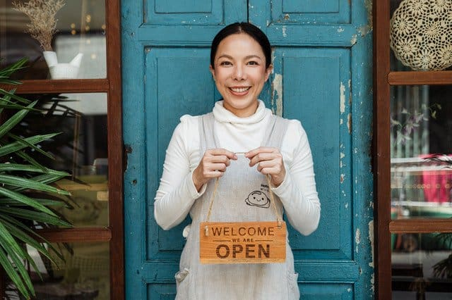 business growth for  female cafe owner